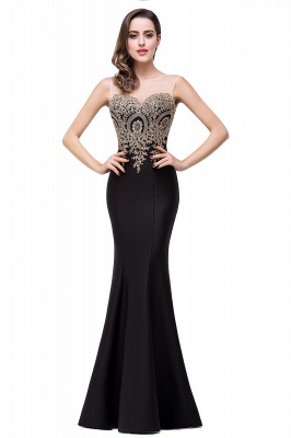 Women's Rhinestone Appliques Sheer Maxi Long Evening Prom Party Dress On Sale_21