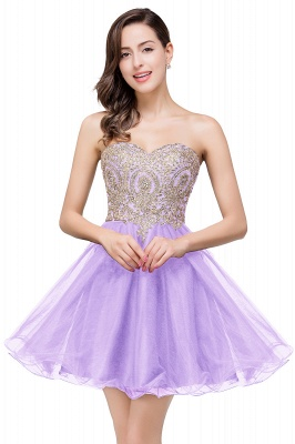A Line Lace Appliques Sweetheart Short Prom Dress On Sale_2