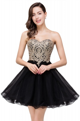 A Line Lace Appliques Sweetheart Short Prom Dress On Sale_6