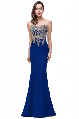 Women's Rhinestone Appliques Sheer Maxi Long Evening Prom Party Dress On Sale_12