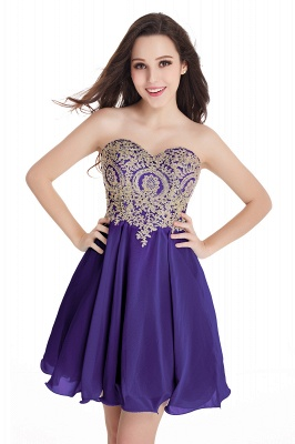 2020 Sweetheart Cheap Mini Short Appliques Homecoming Dresses_3