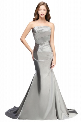 Silver Mermaid 2020 Sexy Long Evening Dresses with Sparkly Sequins Long Train Cheap Bridesmaid Dresses LFC036_1