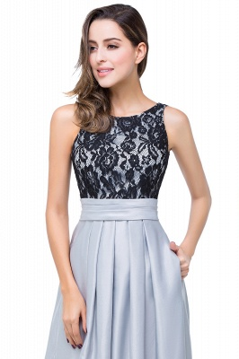Simple A-line Crew Chiffon Open Back Lace Bridesmaid Dress On Sale_11
