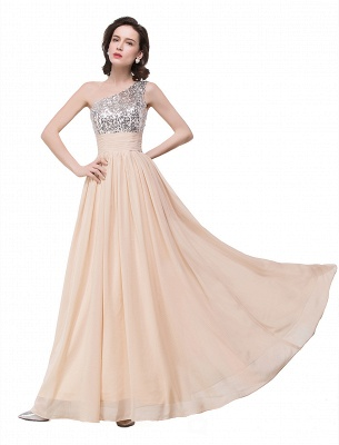 A-line Floor-length Chiffon Evening Dress with Sequined On Sale_8