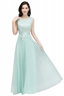 Pink A-line Prom Dress with Lace Appliques On Sale_3