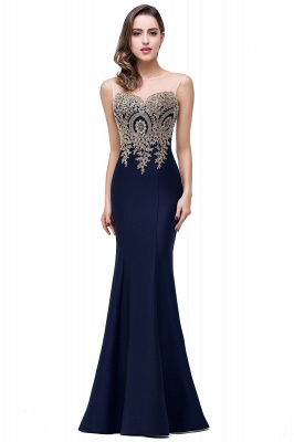 Women's Rhinestone Appliques Sheer Maxi Long Evening Prom Party Dress On Sale_13