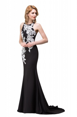Mermaid Evening With Appliques For Women Formal Long Prom Dress On Sale_8