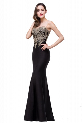 Women's Rhinestone Appliques Sheer Maxi Long Evening Prom Party Dress On Sale_22
