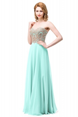 Women's Strapless Embroidery Beaded Prom Formal Dress On Sale_4