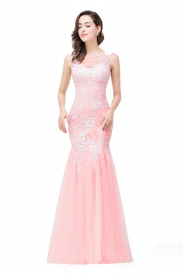 Long Lace Mermaid Sleeveless Maxi Prom Dress On Sale_11