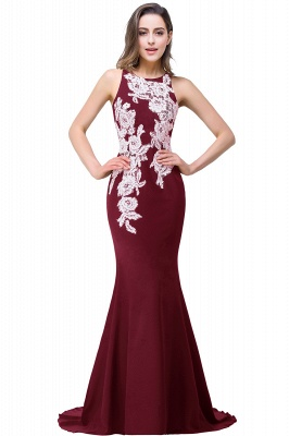 Mermaid Evening With Appliques For Women Formal Long Prom Dress On Sale_1