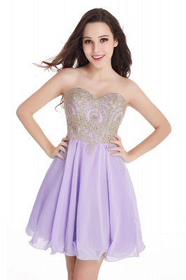 2020 Sweetheart Cheap Mini Short Appliques Homecoming Dresses_4