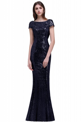 Women Sparkly Rose Gold Long Sequins Bridesmaid Dress On Sale_5