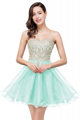 A Line Lace Appliques Sweetheart Short Prom Dress On Sale_5
