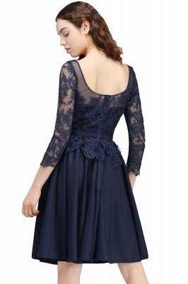 Dark Navy A-line Homecoming Dress On Sale_3