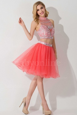 Sexy Crystal Beads Tulle Sleeveless Two-piece Short Prom Dress On Sale_14