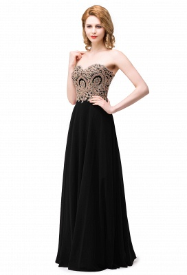 Women's Strapless Embroidery Beaded Prom Formal Dress On Sale_2