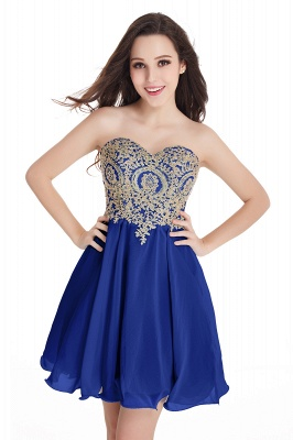 2020 Sweetheart Cheap Mini Short Appliques Homecoming Dresses_5