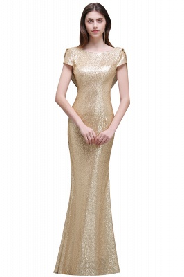 Women Sparkly Rose Gold Long Sequins Bridesmaid Dress On Sale_3