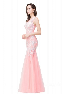 Long Lace Mermaid Sleeveless Maxi Prom Dress On Sale_10