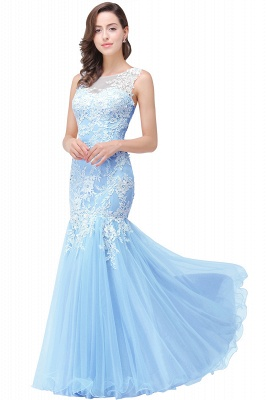 Long Lace Mermaid Sleeveless Maxi Prom Dress On Sale_4