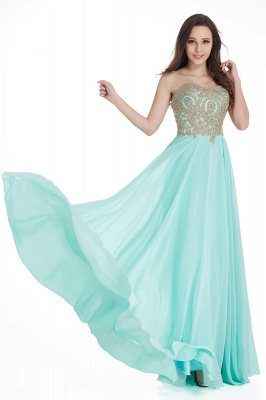 Women's Strapless Embroidery Beaded Prom Formal Dress On Sale_8