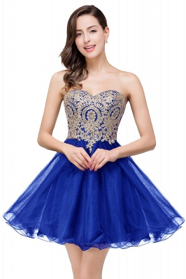 A Line Lace Appliques Sweetheart Short Prom Dress On Sale_3