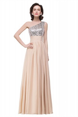 A-line Floor-length Chiffon Evening Dress with Sequined On Sale_1