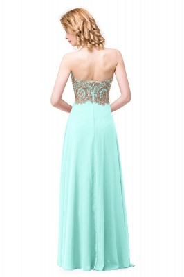 Women's Strapless Embroidery Beaded Prom Formal Dress On Sale_5