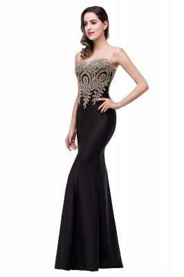 Women's Rhinestone Appliques Sheer Maxi Long Evening Prom Party Dress On Sale_24
