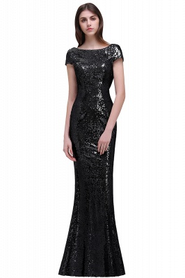 Women Sparkly Rose Gold Long Sequins Bridesmaid Dress On Sale_6