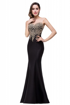 Women's Rhinestone Appliques Sheer Maxi Long Evening Prom Party Dress On Sale_25