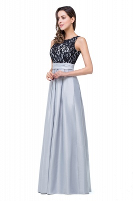 Simple A-line Crew Chiffon Open Back Lace Bridesmaid Dress On Sale_4