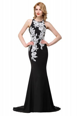 Mermaid Evening With Appliques For Women Formal Long Prom Dress On Sale_4