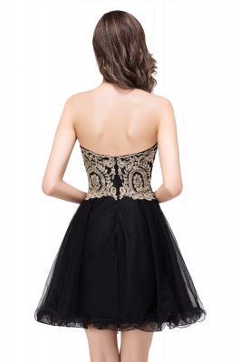 A Line Lace Appliques Sweetheart Short Prom Dress On Sale_7