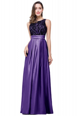 Simple A-line Crew Chiffon Open Back Lace Bridesmaid Dress On Sale_2