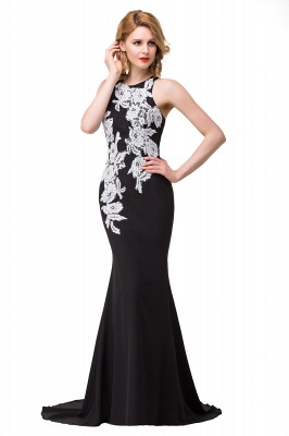 Mermaid Evening With Appliques For Women Formal Long Prom Dress On Sale_9
