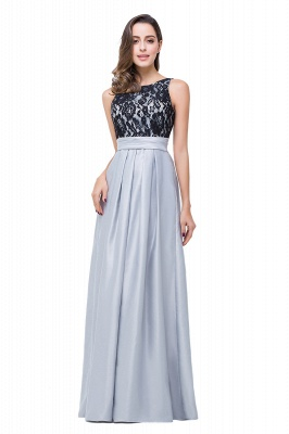 Simple A-line Crew Chiffon Open Back Lace Bridesmaid Dress On Sale_5