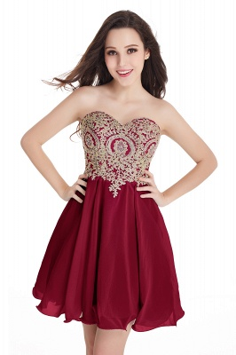 2020 Sweetheart Cheap Mini Short Appliques Homecoming Dresses_2