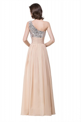 A-line Floor-length Chiffon Evening Dress with Sequined On Sale_4