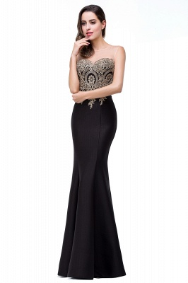 Women's Rhinestone Appliques Sheer Maxi Long Evening Prom Party Dress On Sale_23