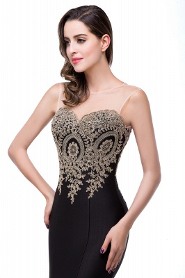 Women's Rhinestone Appliques Sheer Maxi Long Evening Prom Party Dress On Sale_27