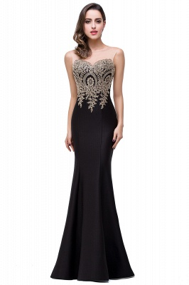 Women's Rhinestone Appliques Sheer Maxi Long Evening Prom Party Dress On Sale