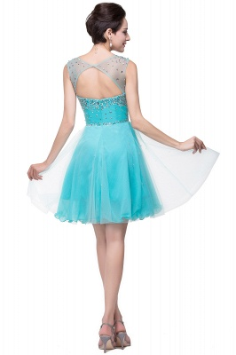 Open Back Sleeveless Chiffon Homecoming Dress Crystal Beads Tulle Short Prom Dress On Sale_8