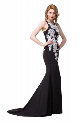 Mermaid Evening With Appliques For Women Formal Long Prom Dress On Sale_6