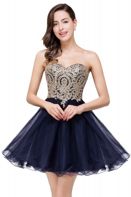 A Line Lace Appliques Sweetheart Short Prom Dress On Sale_4