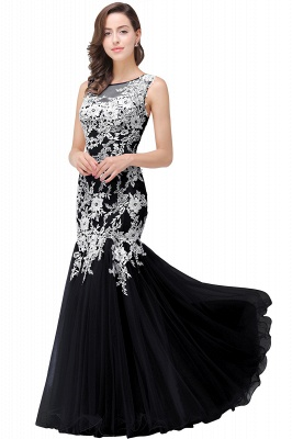 Long Lace Mermaid Sleeveless Maxi Prom Dress On Sale_6