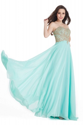 Women's Strapless Embroidery Beaded Prom Formal Dress On Sale_7