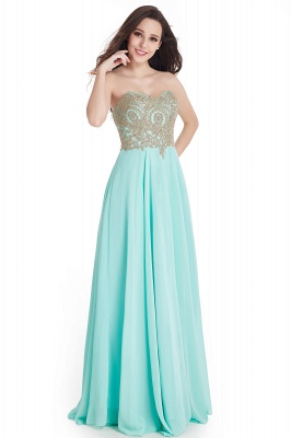 Women's Strapless Embroidery Beaded Prom Formal Dress On Sale_6