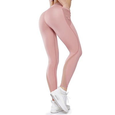 High Quality Fitness Yoga Pants with Pocket | Elastic High Waist Leggings Stretch Breathable Pants_1